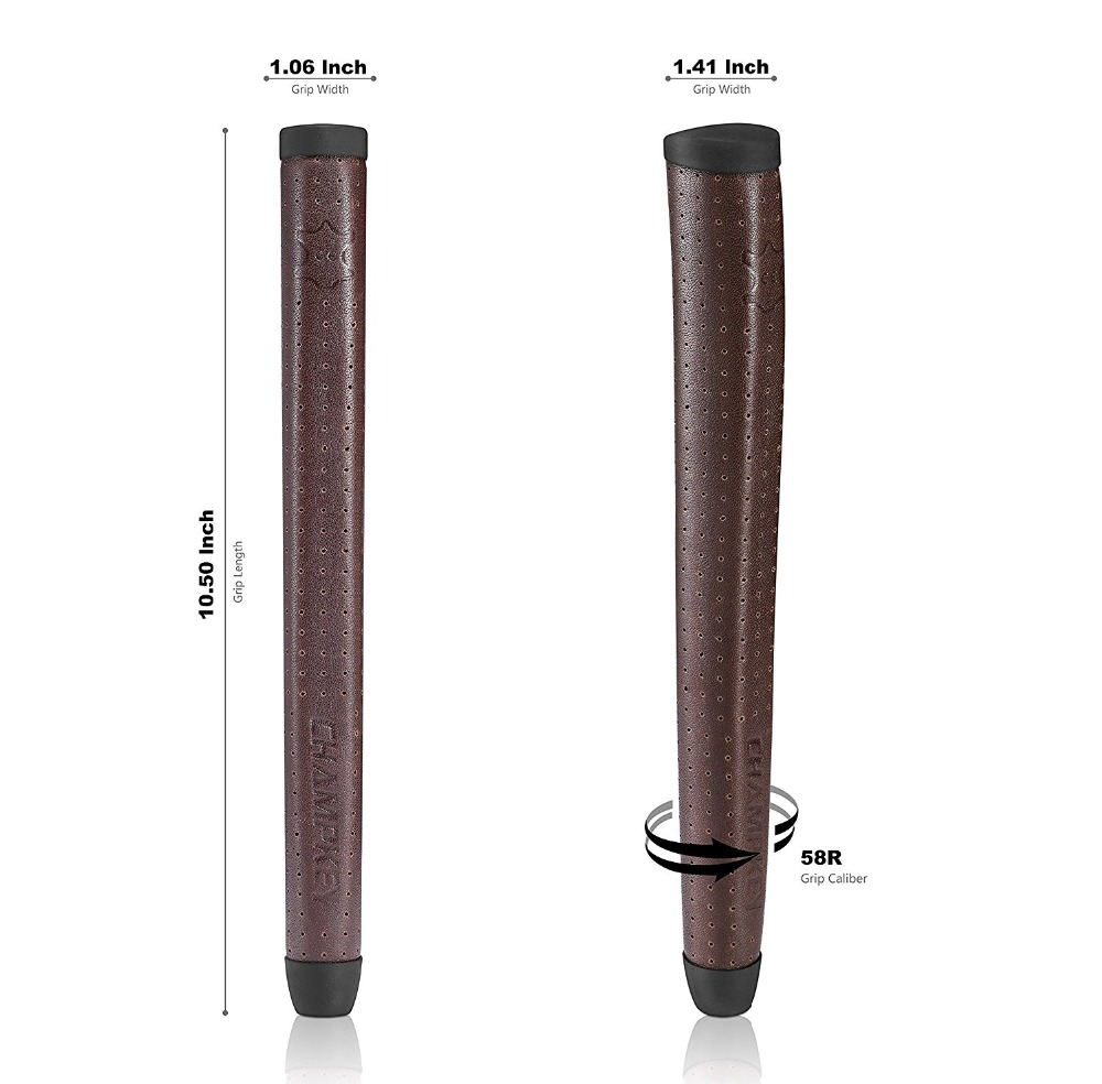 NEW Champkey Real Sheep Leather Golf Putter Grips Midsize 7 Colors Handmade Golf Club Grips