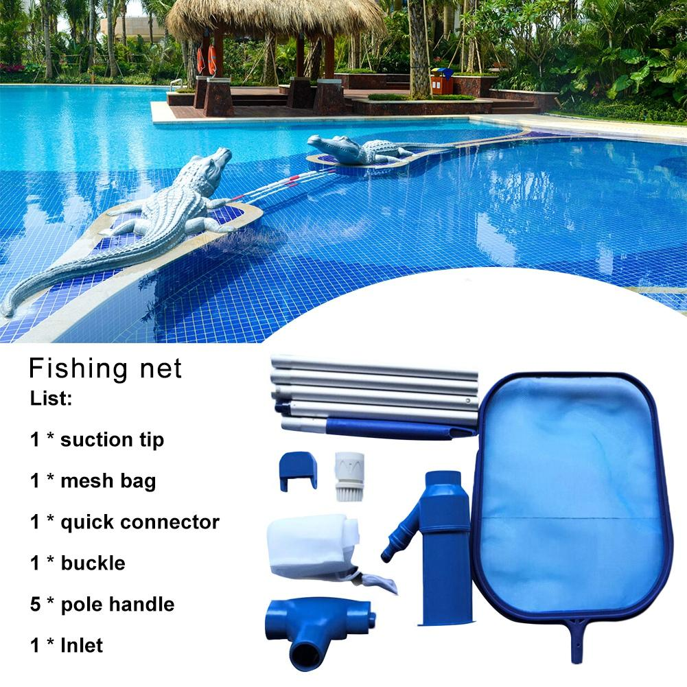 Swimming Pool Fishing Net Net Suction Head Cleaning Tool Accessories For Ground Pool Swimming Pool Suction Head Cleaning Net Set