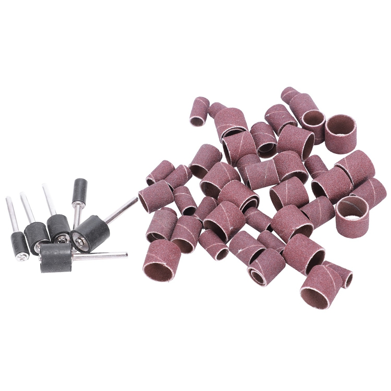 Jumbo 51pc Drum Sanding Kit - Fits Dremel - Includes Rubber Drum Mandrels - 1/2, 3/8 & 1/4 Inch