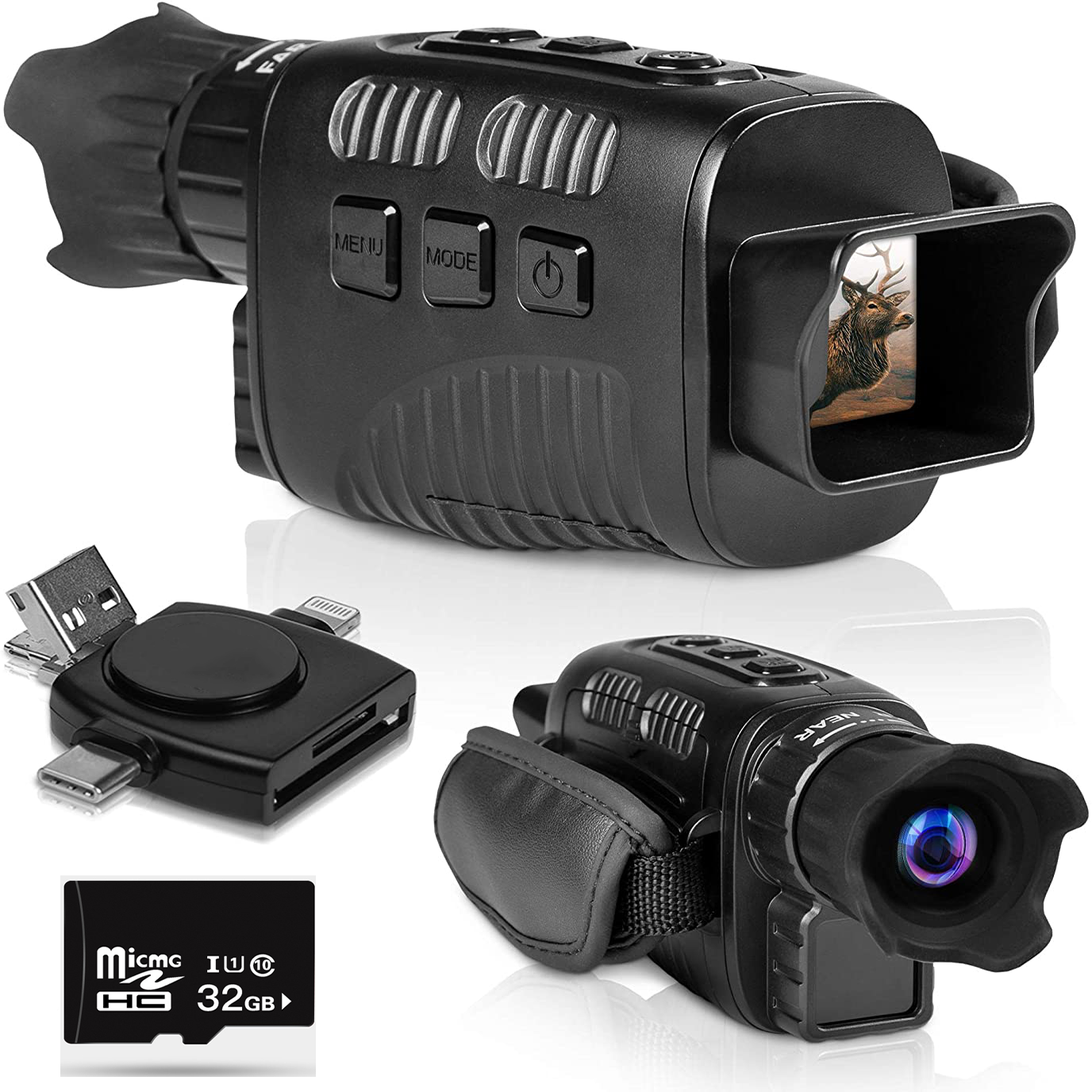 Night Vision Monocular Record Video Night Vision Scope 1 5 Inch LCD Display Water Resistent Goggles Playback Funtion for Outdoor