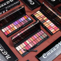 28 Color Glitter Eyeshadow Student Beauty Shimmer Matte Pearlescent Eye Shadow Nude Colorful Eyeshadow Palette With Mirror Brush