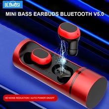 BluMusi K1 TWS 무선 헤드폰 Bluetooth 5.0 진정한 무선 스테레오 이어폰 소음 감소 헤드셋 미니베이스 이어 버드