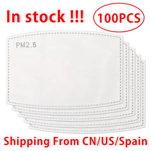 20/50/100pcs 5-Layer FILTER-PADS Protective Pm2.5-Mask Mouth-Face for Skin-Friendly