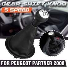 5 perilla de cambio de velocidad cambia Collar palanca palo polaina bota para Citroen Berlingo III para Peugeot Partner 2008-En
