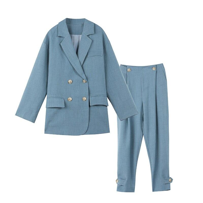 New fashion chic style suit jacket Ladies Suit Lapel Slim Professional 2-piece Suit A solid color suit for work