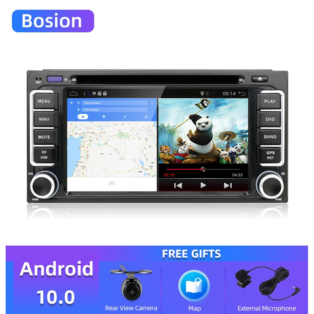 Bosion 2DIN Android 10.0 Car DVD Radio support 4G SIM card Car Navigation for Toyota car 6.2' inch digital Muitl-touch screen image