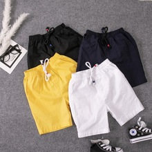 Children Shorts Teenage-Clothes Elastic-Waist Toddler Baby Boys Summer Cotton New