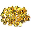 Rivets Spike Studs Riveting Garment Acrylic Spacer Beads Plastic Cone Gold Plated For Dress Clothes Bag Hat Finding 8x8mm