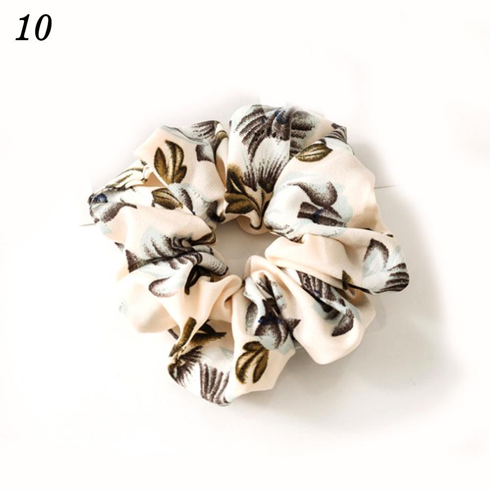 Корейский женский ободок для волос для девочек, полосатые женские резинки для волос, конский хвост, Женский держатель, веревка с ананасовым принтом, аксессуары для волос - Цвет: w10