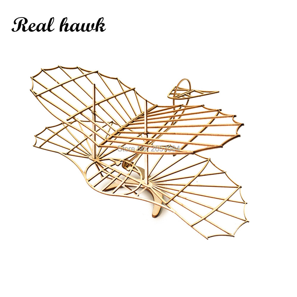 ELERC DIY Craft, Wood Furnishing Building Kits, Christmas Gift Present, Building Toys, Otto Lilienthal GliderFree Shipping