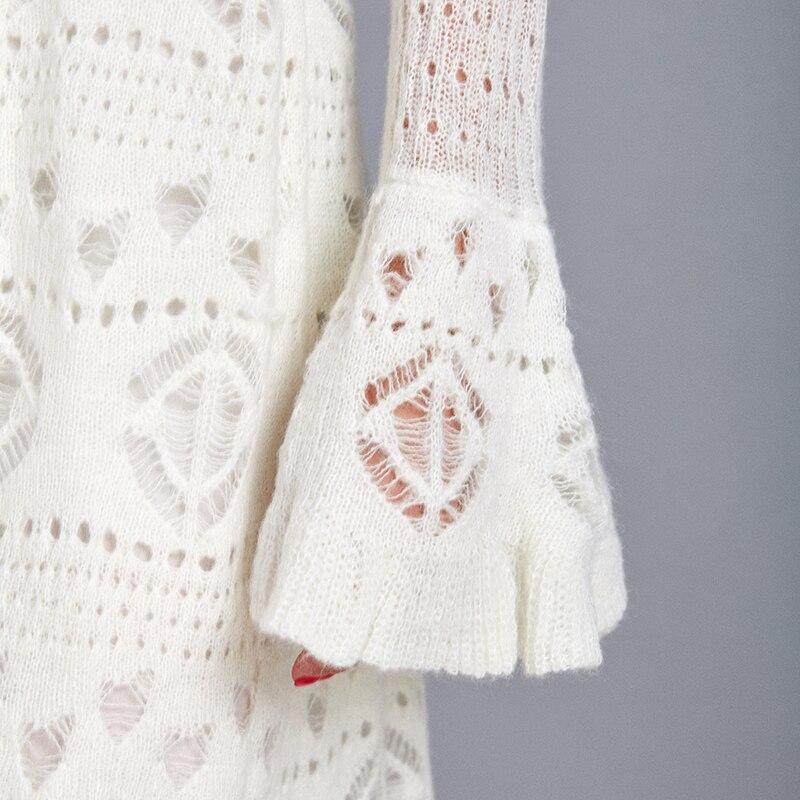 ARTKA Осень Зима Новое Женское платье Элегантное мохеровое вязаное платье с расклешенными рукавами водолазка шерстяной свитер платье YB11695Q