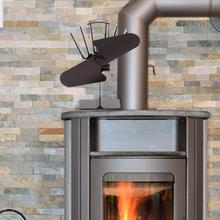2/6 Blades Heat Powered Stove Fan Log Wood Burner Ecofan Quiet Black Home Fireplace Fan Efficient Heat Distribution Wood Stove # цена 2017