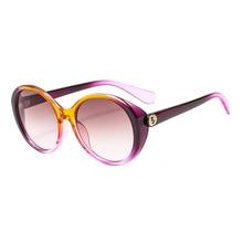 Round Sunglasses Women 2019 Black Oversized Retro Vintage Big Sun Glasses Shades For Fashion Oval Frame  UV400