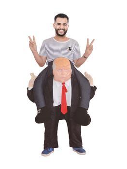 Traje de paseo con hombros al descubierto del presidente Trump con pantalones de peluche para jugar al rol Halloween