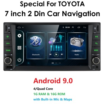 Android 9.0 4 Core 2Din Car MultiMedia Player for Corolla E120 Toyota RAV4 HIACE Rush Crown Allion Auris Hiace Celica Highlander image