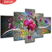Huacan Lover elmas boyama oya çapraz dikiş tam kare mozaik çok resim kombinasyonu Rhinestones DIY hediye