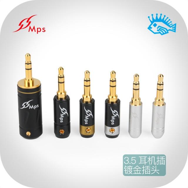 Conector de auriculares hifi de Taiwán MPS Eagle 4G/4S/6C Falcon, 2,55mm/3,55mm, chapado en oro, 3,5mm, 1 Uds.