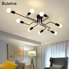 LED Chandelier Lighting Fixtures Lustre Vintage Led Lamp Industrial Kitchen Living Room Black Avize Modern Plafonnier Night Lamp