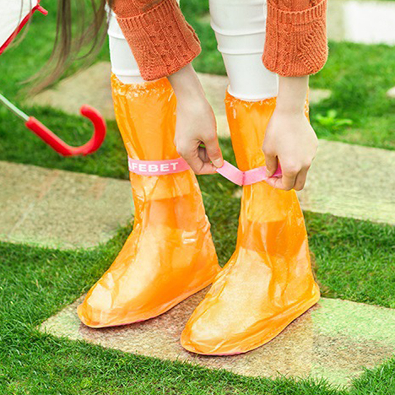 Silicone Wear-resistant Non-slip Waterproof Reusable Rain Shoes Cover Moderate Stretchy Overshoes For Men Women All Seasons