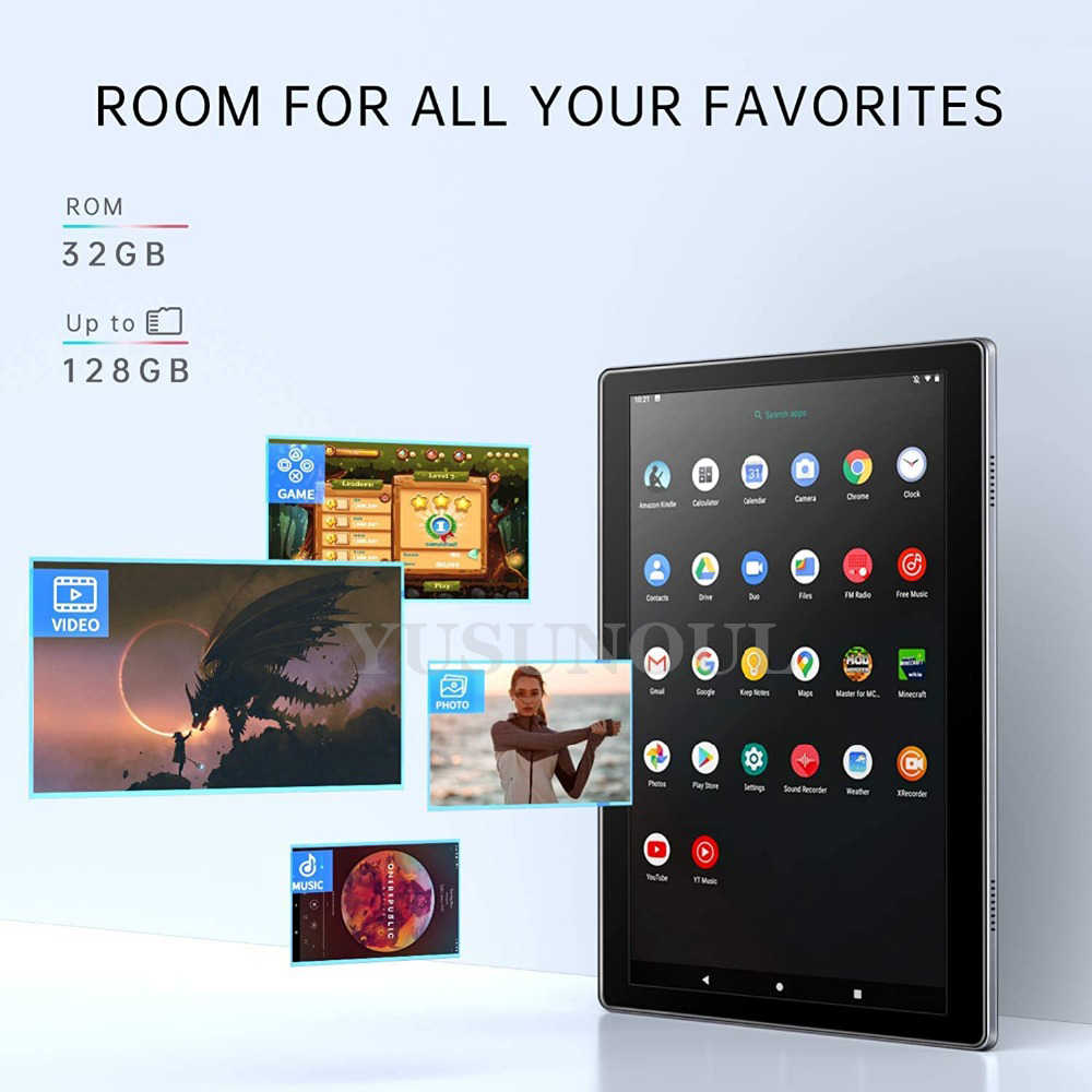 Super Glas Nieuwe Android Hotsale Google 10 Inch 2.5D Glas Tablet Ips Scherm Dual Sim Card Play Store/A-GPS tabletten 10 10.1 + Geschenken