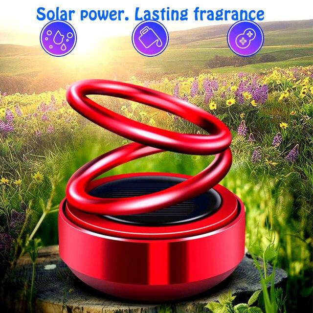 Désodorisant de voiture style voiture   Tableau de bord, parfum de voiture frais, parfum solaire Rotation de lair, aromathérapie, accessoires de voiture