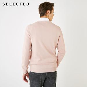 Image 3 - SELECTED 남성 모직 o 넥 컬러 스웨터 옷 긴팔 스웨터 니트 S