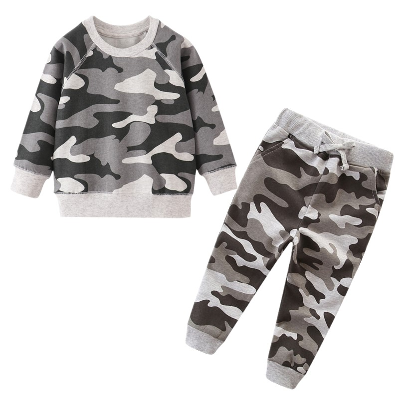 Camouflage Boys Clothing Sets Children Winter Clothes Baby Boys Sweatshirts Pants Infant Outfit Kids Clothes Suit Tracksuits
