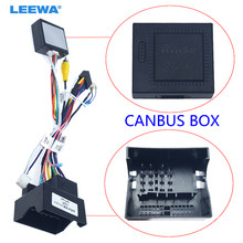 Leewa android carro media player navi rádio canbus caixa chicote de fios para volkswagen golf 5/6/polo/passat/jetta/tiguan/touran/skoda