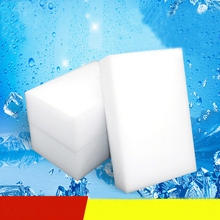 купить 10Pcs/lot Melamine Sponge Magic Sponge Eraser Melamine Cleaner for Kitchen Office Bathroom Cleaning Nano Sponges дешево