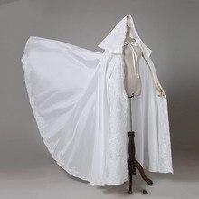 Avorio Da Sposa In Pizzo Mantelle Da Sposa Lungo Bolero Avorio/Nero/Rosso Elegante Sposa Appliques Mantello Personalizzato sizeHooded mantello