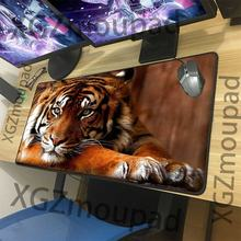 Большой коврик для мыши xgz милый тигр на заказ черный компьютерного