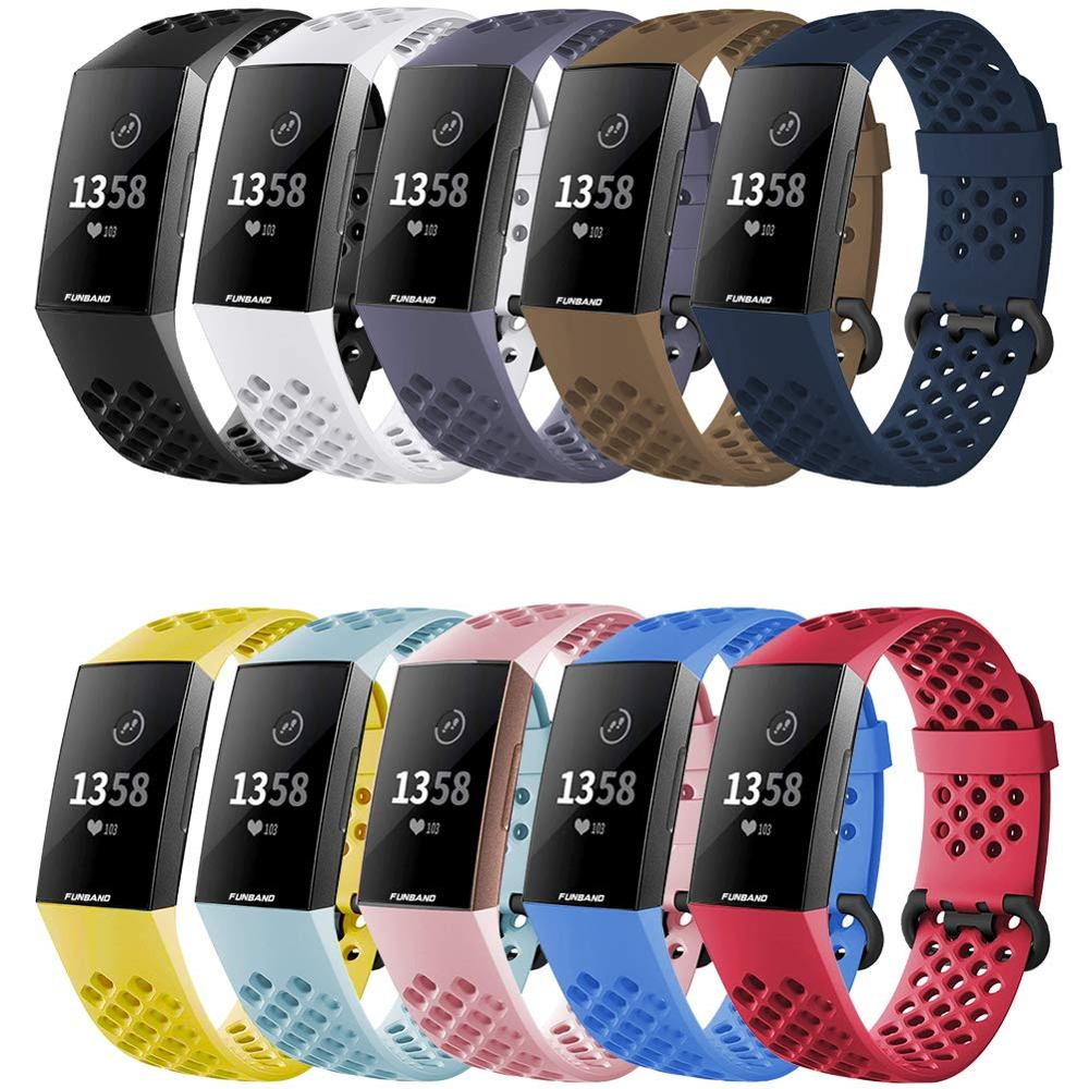Strap For Fitbit Charge 3 SE Band Replacement Watchband Smart Watch Sport Breathable Silicone Bracelet Fitbit Charge 4 Band