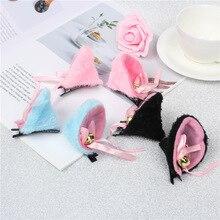 Freee Shipping COS Anime cat ear hairpins maid catwoman Lolita soft cute Hair clip