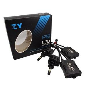 Высокое качество 2x90W 9000LM H1 светодиодный светильник, комплект, светильник, Лампа 6000K белый P6 светодиодный налобный фонарь, Лампа H1 высокой мощ...