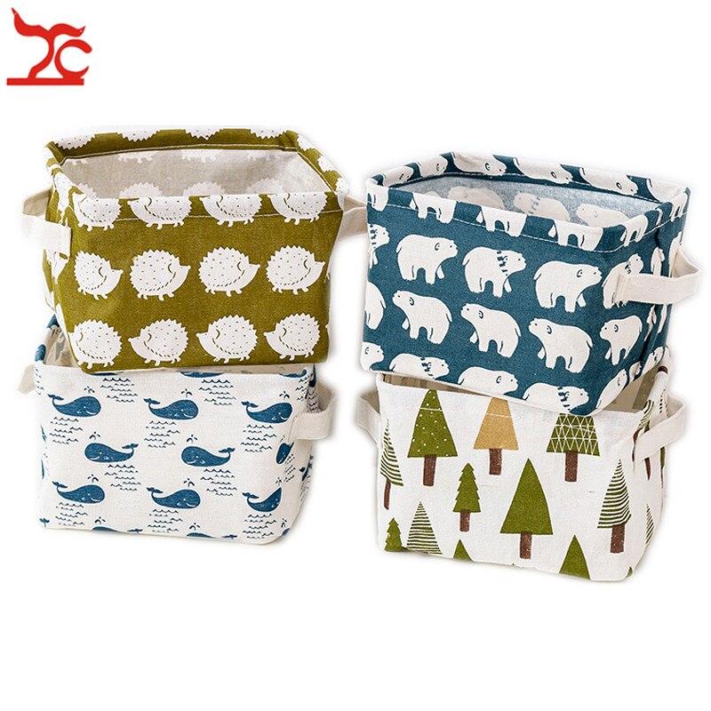 Creative Underwear Storage Box DIY Desktop Jewelry Basket Cotton Cosmetic Case Home Closet Organizer Container Laundry Basket