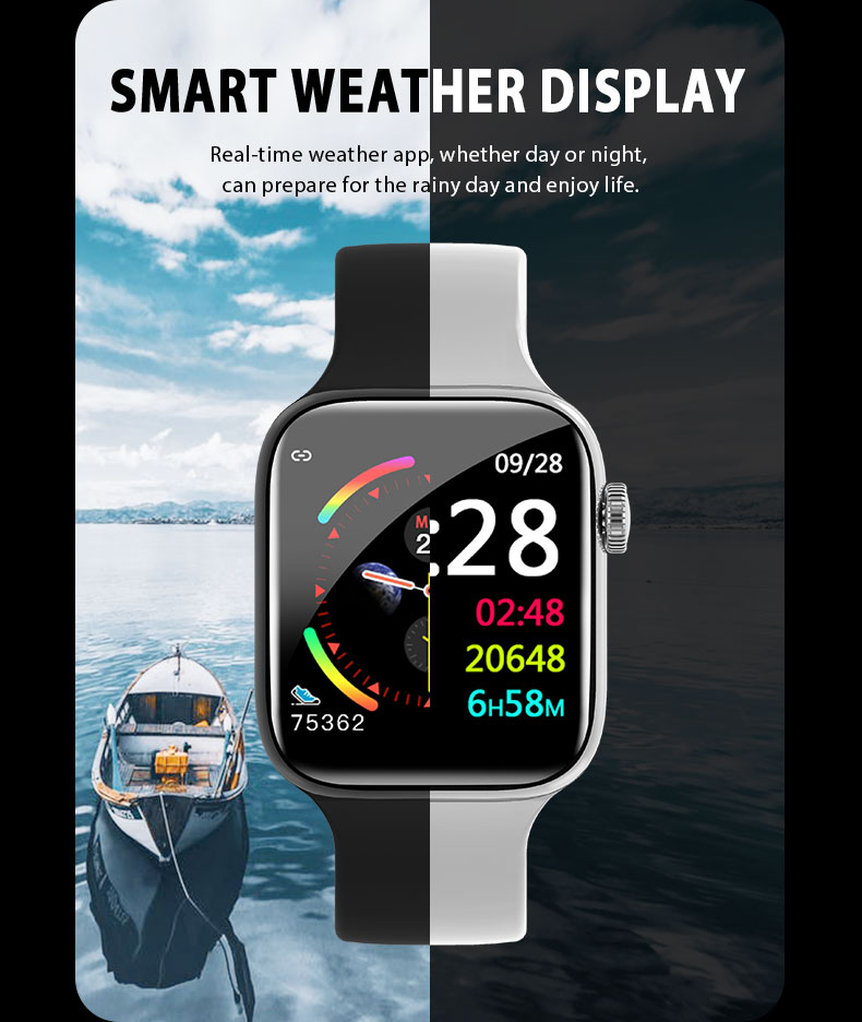 F9 s PK iwo8 b57 Touch Screen smart watches to Monitor Heart rate and Blood pressure Supported for IOS Android for men women 30