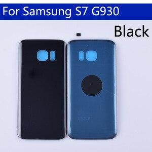 Image 2 - 10Pcs dużo S7 tylna pokrywa baterii do Samsung Galaxy S7 G930 G930F G930A SM G930L tylna obudowa baterii przypadku drzwi wymiana części