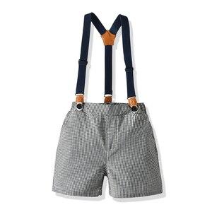 Image 5 - Baby kinder kleidung jungen anzug set für sommer neue angekommene blaue hemd grau shorts für baby geburtstag 2020 kleinkind gentleman anzug