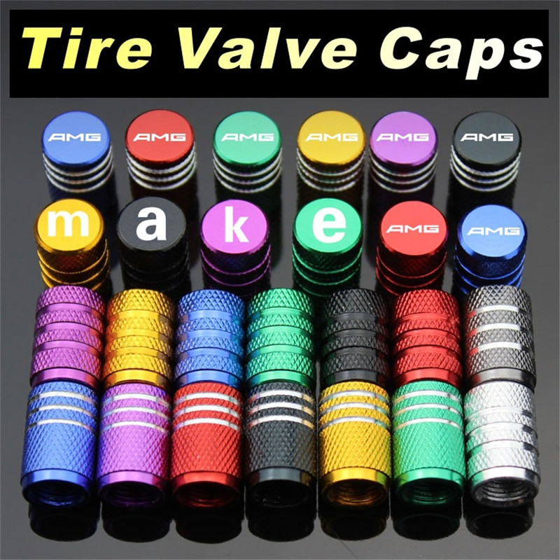 2020 4PCS Car Wheel Tire Valve Cap Tyre Stem Air Cover For Mercedes Benz AMG CLK CLA W203 W211 W210 W124 W212 W202 W205 W220