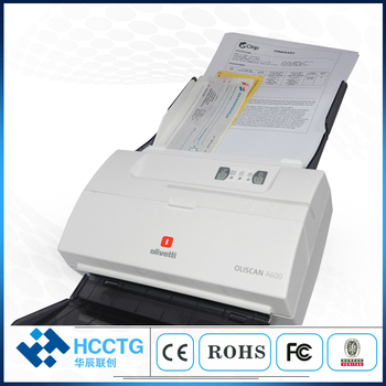 Automatic Document Feed USB MICR Bank Card Check Scanner Wirh Badge Reader A600