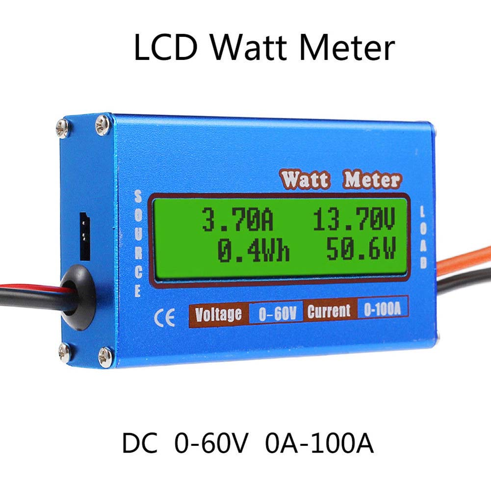 Digital Monitor LCD Watt Meter 60V/100A DC Ammeter RC Battery Power Amp Analyzer FKU66