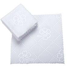 Ультразвуковая кружевная квадратная белая салфетка Wmbossed волокна салфетки носовой платок одноразовые принадлежности для ресторана отеля