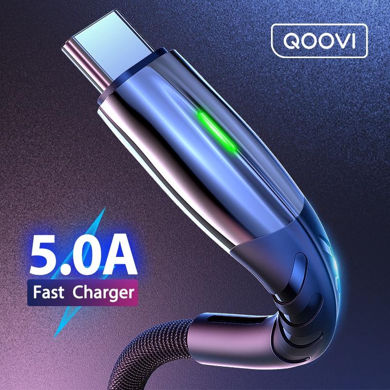 Cable de carga rápida para teléfono móvil Android, cargador tipo C con transferencia de datos Micro USB 5A de 2 m, compatible con celular Huawei P40, Mate 30 y Xiaomi Redmi