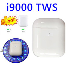 I9000 tws 1:1 air Smart sensor 8D Bass Беспроводная зарядка Bluetooth 5,0 наушники i9000 tws PK i10 i12 i60 i200 i5000 tws