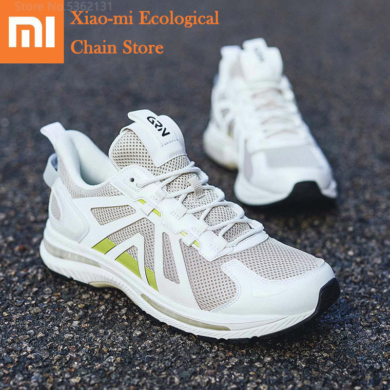 Xiaomi Men Sports Running Shoes Cushioned Rebound Lightweight Comfortable Rubber Outsole Breathable Male Outdoor Sports Sneakers