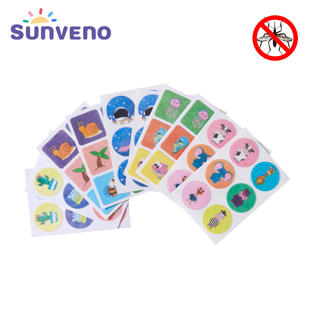 Sunveno 60pcs/Lot Natural Mosquito Repellent Sticker 100% Anti Mosquito Non Toxic Pure Essential Oil Keeps Insects Far Away