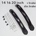 Складной велосипедный брызговик 14, 16, 20 дюймов для 412 года, дисковый тормоз dahon V, велосипедный брызговик, передний и задний грязезащитный скл...