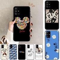 Dinsey Mickey Liefde Telefoon Case Romp Voor Samsung Galaxy A50 A51 A20 A71 A70 A40 A30 A31 A80 E 5G S Zwart Shell Art Mobiele Cove