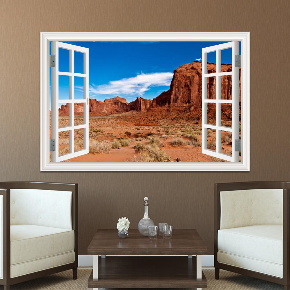 Grand Canyon 3D Window View Decal WALL STICKER Art Mural Scenic Dessert View