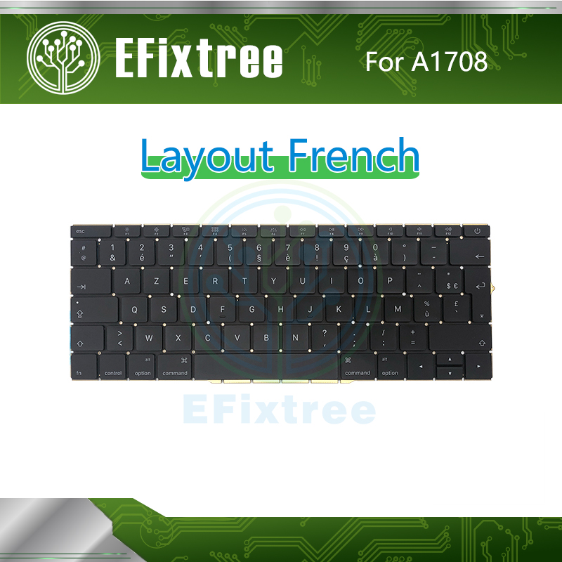Original New A1708 Keyboard French With Backlight For Macbook Pro Retina 13 A1708 Layout FR 2016 2017 EMC 3164 2974 image